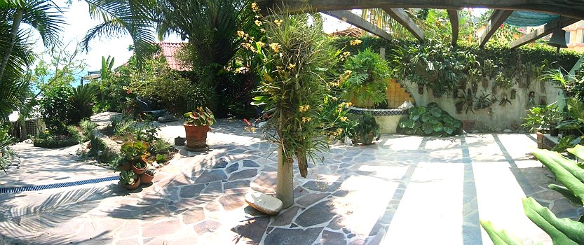 front patio and garden
